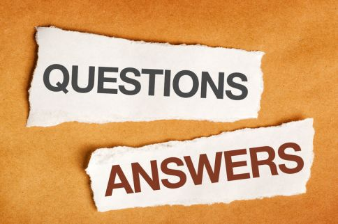 53247514 - questions and answers on scrap paper, presentation slide background